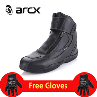 ARCX Motorcycle Boots Genuine Leather Waterproof Street Moto Racing Boots Motorbike Chopper Cruiser Touring Riding Shoes L60024