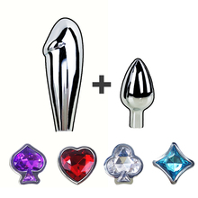 New Metal Crystal Anal plugs for Couples Butt plug Sets Big Anal Dildo Sex toys for women & Men Booty  Beads Adult Sex Products
