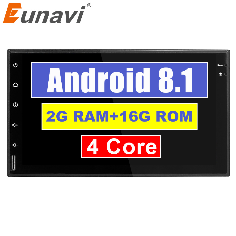 Eunavi 7'' TDA7851 Quad core 2 din Android 8.1 Universal Car Radio Double Din autoradio wifi GPS Navigation BT car pc Stereo