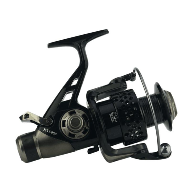 2018 Novo Design de Freio Duplo Carretel De Pesca série 3000-8000 Alimentador De Pesca Da Carpa Fiação tipo roda de Fiar Carretel de pesca roda