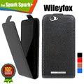 Os mais recentes para wileyfox faísca faísca + atacado customed 100% especial de luxo pu couro flip case cover, dom gratuito