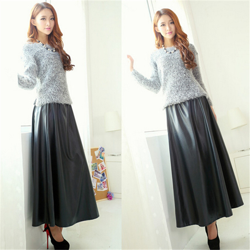 Faux Leather Long Skirts Promotion-Shop for Promotional Faux ...