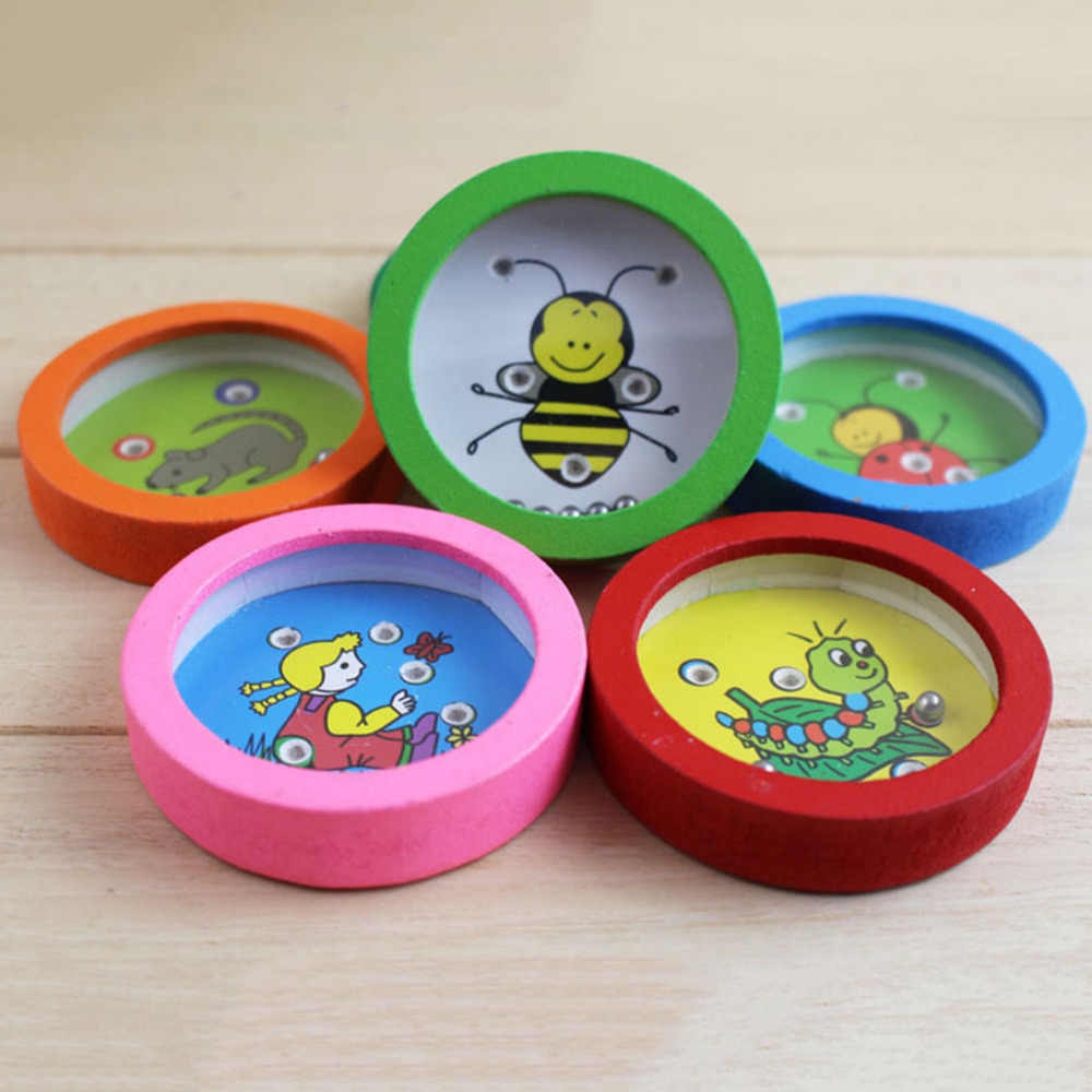 Kleur & Vorm Houten Ronde Doolhof Toys Beste Geschenken voor Kinderen Educatief Ballen Balans kinderen verjaardag meisjes grappig outdoor familie