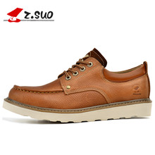 Z.SUO genuine leather Shoes Men's oxfords california casual Loafers Footwear Dress Shoes