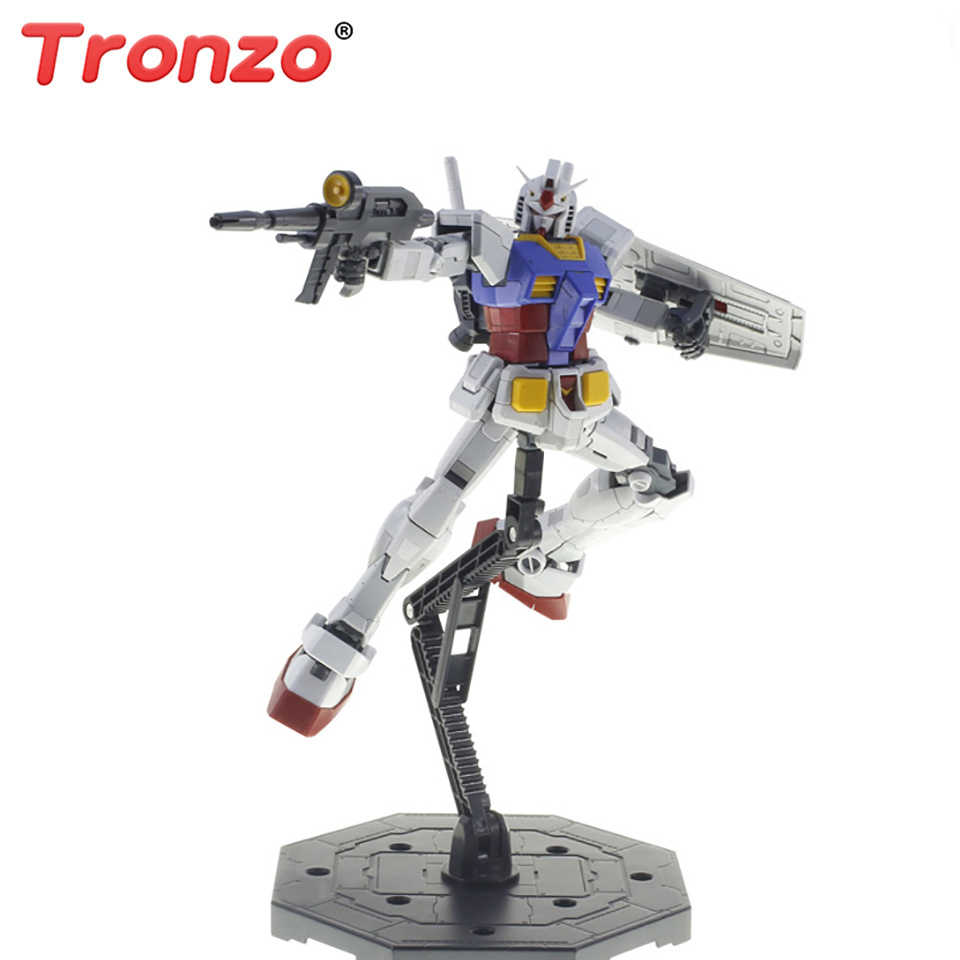 4x Clear Action Figure Base Stand Holder Kit For Bandai HG RG SD Gundam Model