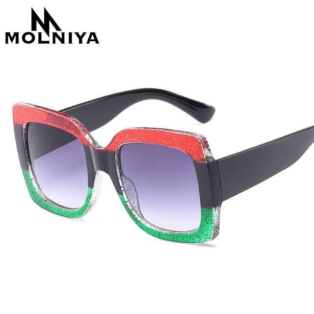 Кошачий глаз Солнцезащитные очки для женщин Роскошные итальянские Брендовая Дизайнерская обувь Для женщин зеркало Защита от солнца Очки Винтаж 2018 зеленый красный Защита от солнца Очки женские защитные очки