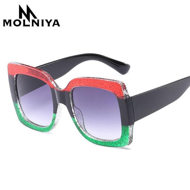 Image Cat Eye Sunglasses Italy Luxury Brand Designer Women Mirror Sun glasses Vintage 2018 Green Red Sun Glasses Female Goggle Eyewear