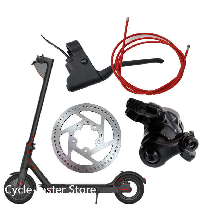 Disc Brakes Rear Brake Line Cable Handle Brake Lever Tire Disc Brake For Xiaomi Mijia M365 Electric Scooter Replacement Parts