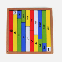 Free shipping Baby Montessori AIDS, Color dividing decimal sticks for children, Kids education Block, wooden toy
