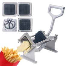 Коммерческий картофель слайсер фруктовый овощерезка ломтерезка Жарка инструмент для измельчения картофеля машина для резки картофеля с 4 лезвиями 1 шт