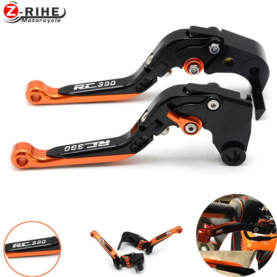Orange Motorcycle aluminum Adjustable Foldable Lengthening brake clutch levers for ktm rc 390 2014 2015 2016 2013 2012 2011 2009 motorcycle adjustable foldable brakes clutch levers and handelbar girps for kawasaki z1000 2011 2016 2012 2013 2014 2015