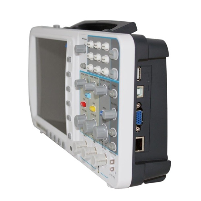 "OWON 100 МГц осциллограф SDS7102V 1 г/локон большой "" ЖК LAN+ VGA+ батарея+ сумка 3 года гарантии AKL77102VBB"