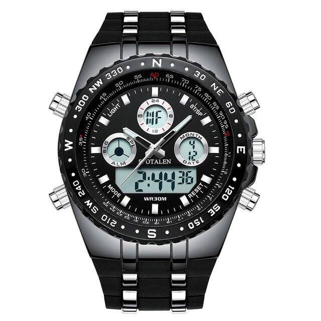 Big Face Sport Quartz Wrist Watch Men Military TOP LED Digital Watches Waterproof Watches Men Quartz Wristwatch SPOTALEN