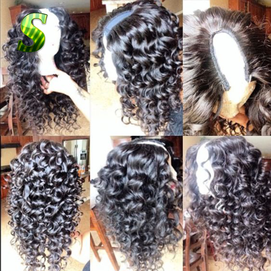U Part Human Hair Wigs Brazilian Deep Curly U Part Wigs