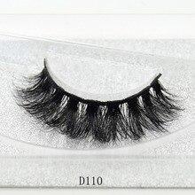 3D Mink Lashes Eyelash Extension 100% Handmade Thick Volume Long False Lash Makeup Giltter Packing 1 Pair D110