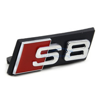 Auto Decal Modified Accessories Universal 3D S8 Logo Car Styling Front Hood Grille Emblem Badge Stickers