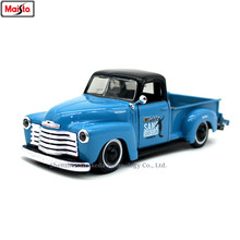 Maisto 1:24 1950 Chevrolet pickup retro alloy super toy car model For with Steering wheel control front wheel steering toy(China)