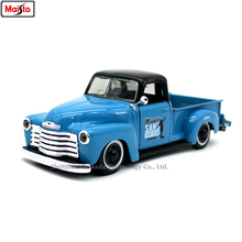Maisto 1:24 1950 Chevrolet pickup retro alloy super toy car model For with Steering wheel control front wheel steering toy цена 2017
