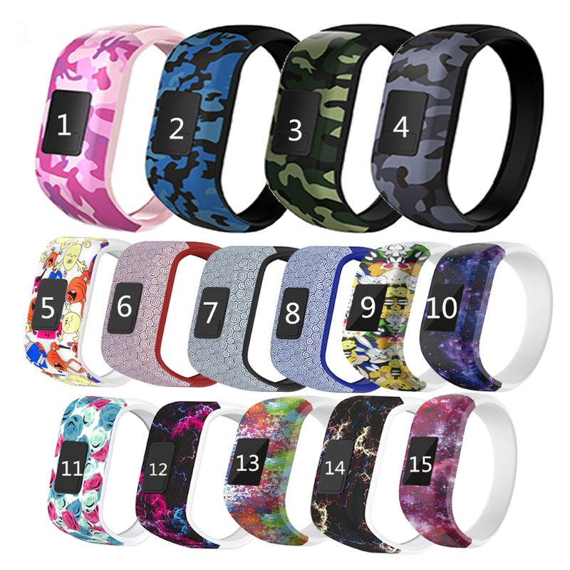 Colorful Wristband Silicone No Buckle Watch Band Strap Watchband Sports Replacement For Garmin Vivofit JR/Vivofit JR2/Vivofit 3