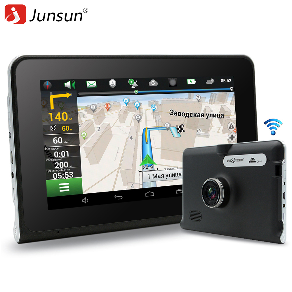 Junsun 7 inch GPS Android Navigation Capacitive Screen Car dvrs Recorder camcorder FM WIFI Truck vehicle gps sat nav Free Map - Official Store store
