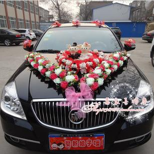 The upscale wedding car decorated floats set flower decoration of the upscale wedding car decorated floats set flower decoration of the front junglespirit Image collections
