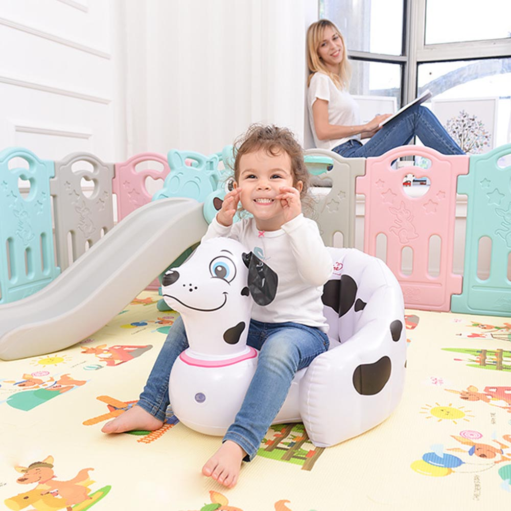 Children Portable Inflatable Chair Kid PVC Inflatable Bathroom Sofa Lazy Chair Multifunction Baby Learn Seat 56*50*30cm
