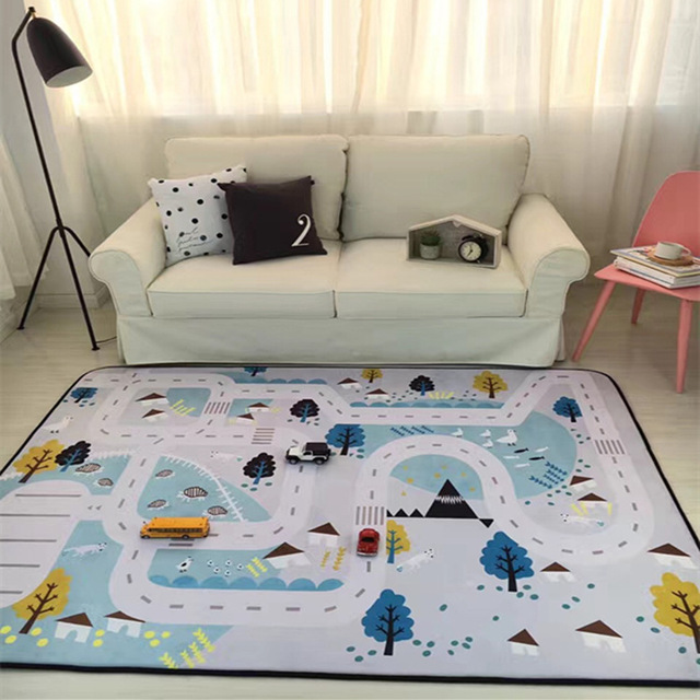 150X190CM For Living Room Cartoon Children Bedroom Rugs And Carpets Coffee  Table Area Rug Kids Play