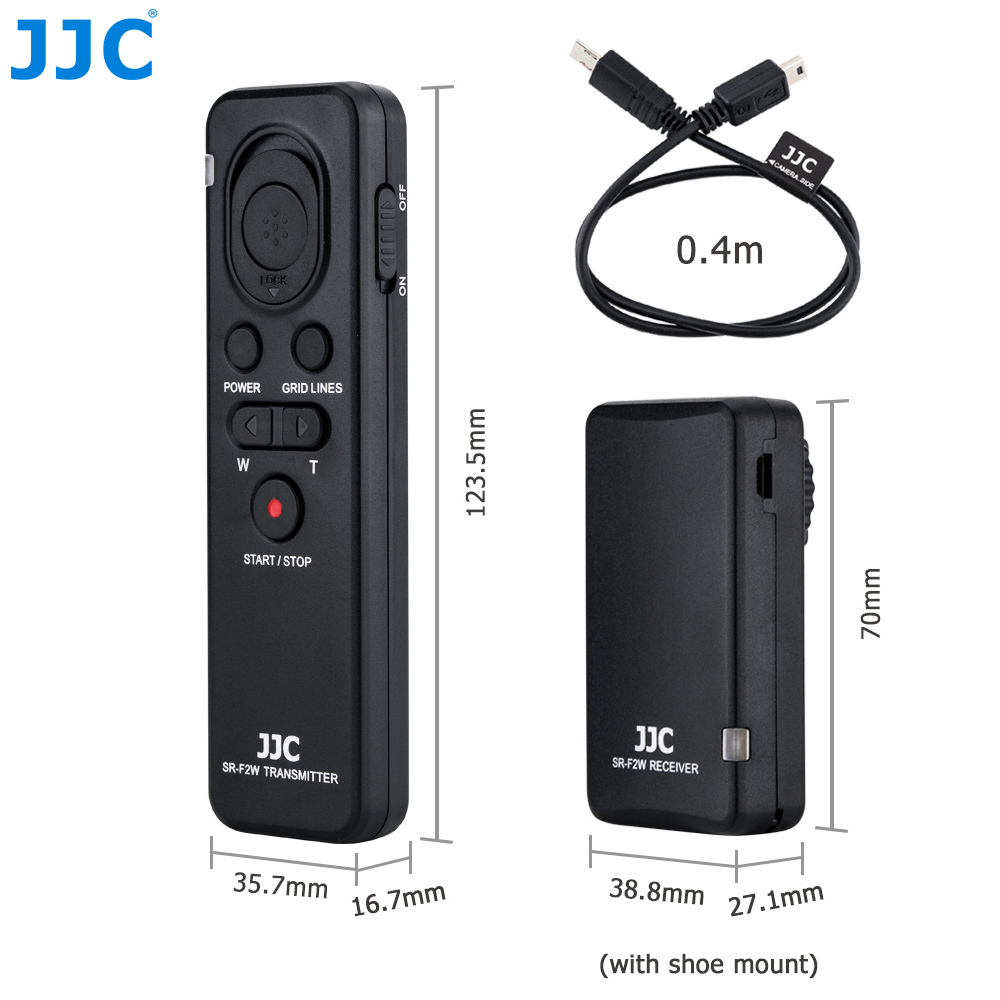 JJC Camera Wireless Remote Control for SONY Alpha a7III a7SII a7R a6000 a6300 a6500 etc. Replace RMT-VP1K or RM-VPR1 Commander wireless video timer remote control commander with multi terminal cable replace rm vpr1 for sony a7 ii iii a6500 a6300 rx100 m5