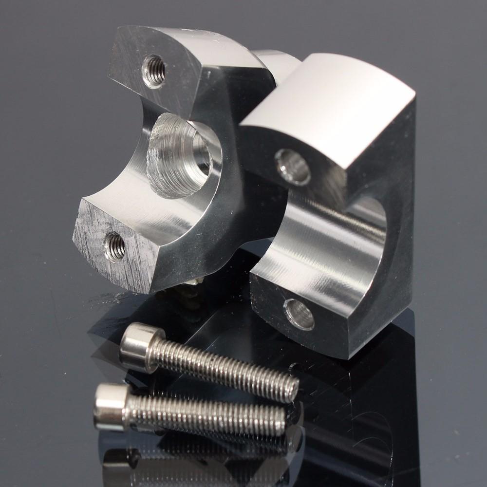 22mm CNC Motorcycle Handle Bar Mount Risers Clamp Aluminium For ATV 7