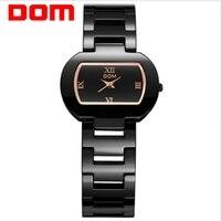 DOMผู้หญิงนาฬิกาที่มีคุณภาพสูงหรูหราเซรามิกน้ำทนคลาสสิกสร้อยข้อมือนาฬิกาสำหรับผู้หญิงชุ...
