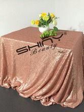 ФОТО 60inx102in blush sequin tablecloth sparkle table cover for wedding/party/birthday part decoration-( 150x260cm, #67)-ay