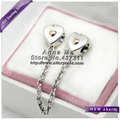 2016 NEW S925 Sterling Silver K Gold Heart & Crown Charm Bead Fit European Jewellery charm Bracelets Necklace & Pendant SA010
