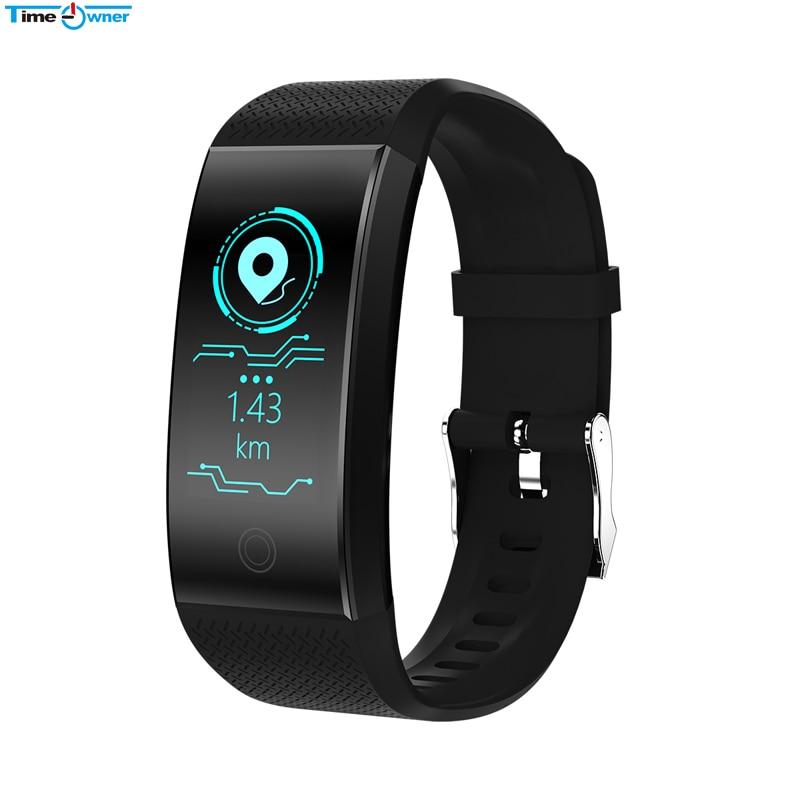 TimeOwner Smart Bracelet Waterproof Heart Rate Monitor Smart Band Sport Passmeter Calories Mileage Multi Sport Fitness Tracker