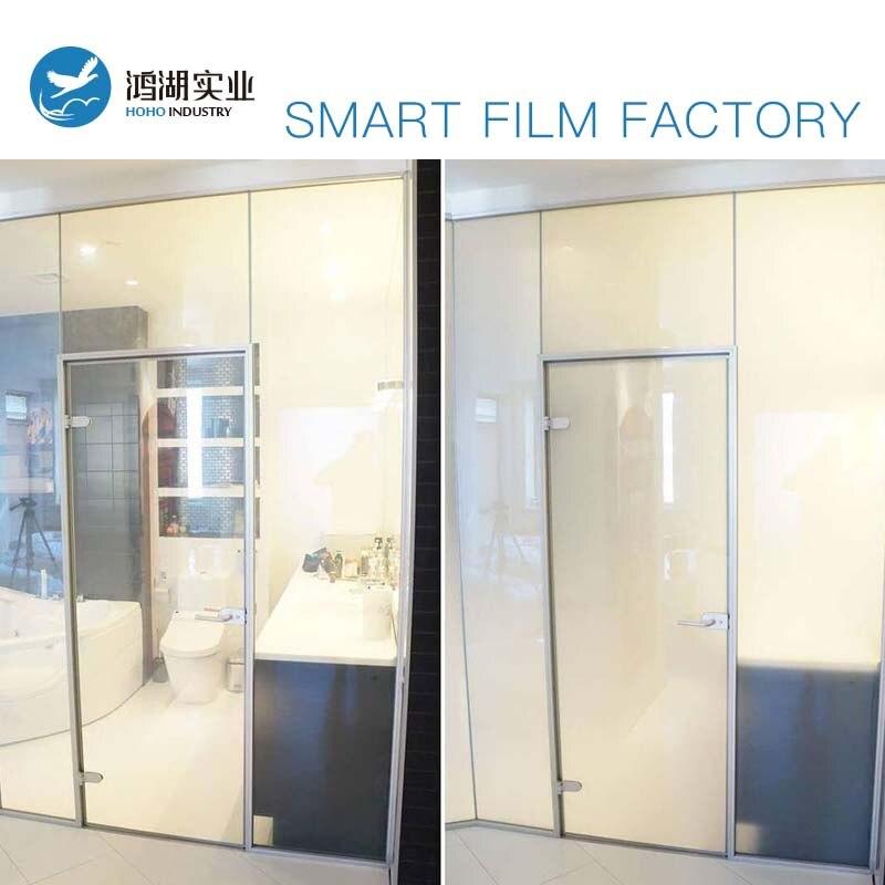 2 pièces 55X77 cm Smart PDLC Film blanc à Opaque commutable Film de verre de haute qualité teinte Film avec 1 pc adaptateur de voiture