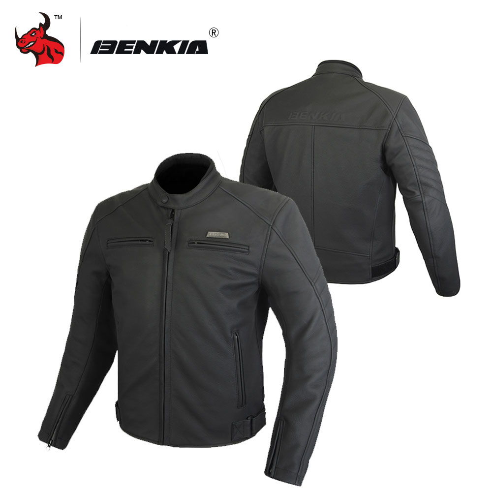 BENKIA Leather Motorcycle Jacket Men Motocross Jackets Winter Waterproof Moto Jacket Motorcycle Protective Clothing HDF-GL72 hdf 2415s