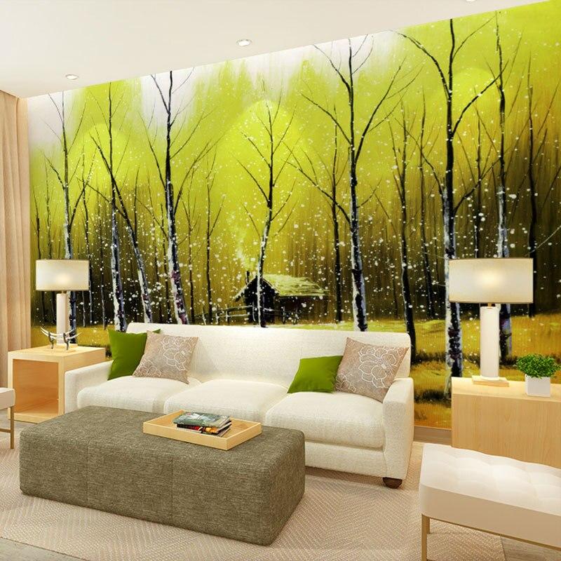 beibehang art painting landscape design patterns papel de parede 3d ...