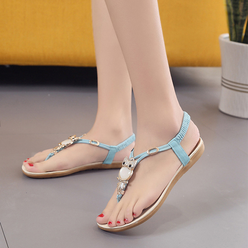 2018 new arrivals women sandals fashion owl decoration flat summer sandals women slip-on flip flops plus size 41 42 covoyyar 2018 fringe women sandals vintage tassel lady flip flops summer back zip flat women shoes plus size 40 wss765