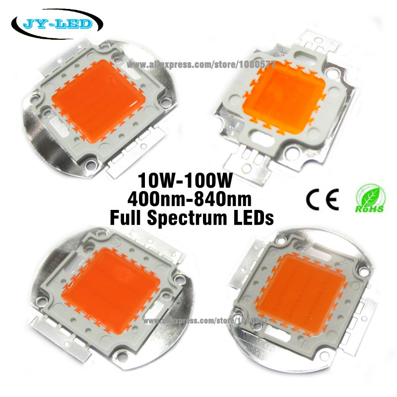High Power LED Chip 400-840nm Full Spectrum led grow Light COB Beads, 1W 3W 10W 20W 30W 50W 100W For Indoor Plant Growth Flowe