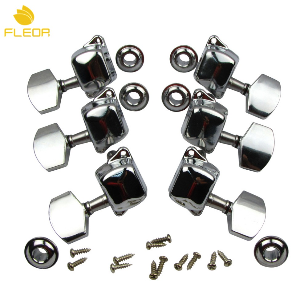 fleor semiclosed electric guitar tuning pegs keys machine heads tuners 3l3r guitar parts chrome. Black Bedroom Furniture Sets. Home Design Ideas