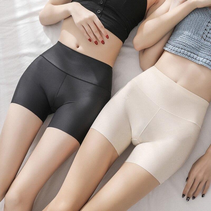 3 шт./лот, женские Защитные шорты, бесшовные нейлоновые трусики с высокой талией, бесшовные шорты для девочек, Утягивающее нижнее белье