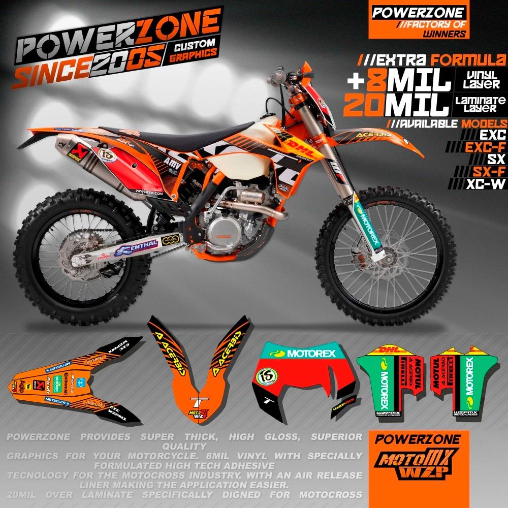 CustomizableTeam Graphique Milieux Décalques 3 M Autocollants Kits Pour KTM SX SXF EXC XCW 125 250 450 530 2008-2018