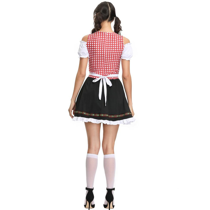 Adult Women Oktoberfest Costume Sexy Beer Girl Uniform Erotic Japanese School Student Cosplay Costume Fancy Dirndl Dress Z4299 in Sexy Costumes from Novelty Special Use