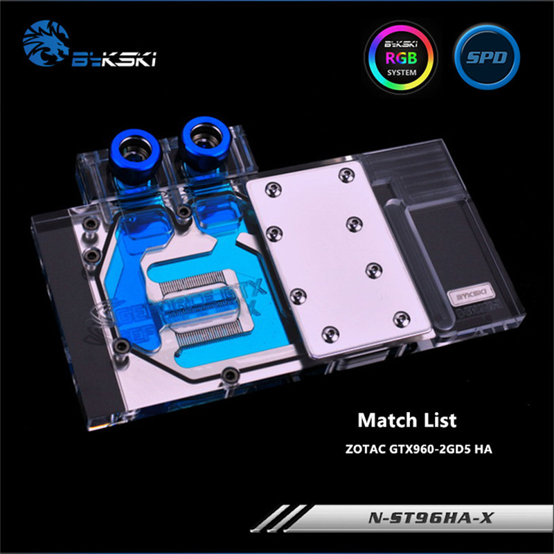 Bykski Full Coverage GPU Water Block For ZOTAC GTX960-2GD5 HA Graphics Card N-ST96HA-X computador cooling fan replacement for msi twin frozr ii r7770 hd 7770 n460 n560 gtx graphics video card fans pld08010s12hh