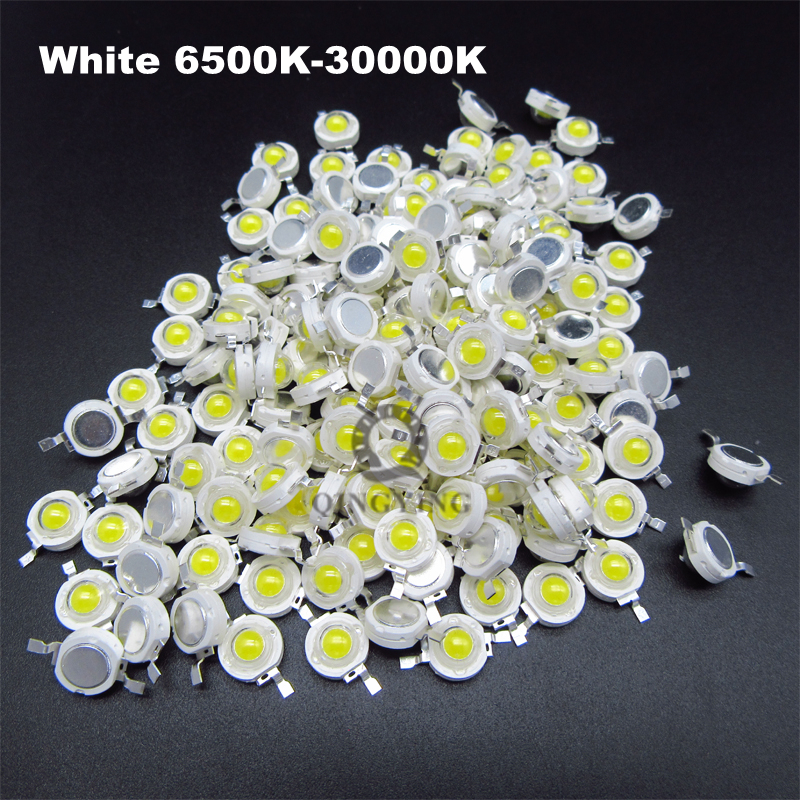 Jammas Wholesale 500pcs 1w 3w led Beads Chips Bulb diode RGB//Red//Yellow//Blue//Green//Cold Whie//Natural White//Warm White Light Source Emitting Color: red, Wattage: 3W