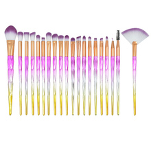 20 pcs purple Unicorn Eyeshadow Eyeliner Blending Crease Kit Makeup Brushes Powder Cream Cosmetics Brushes