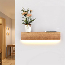 Modern Nordic Wooden Led Wall Lamp for Foyer Bedside Aisle Stair Illuminare Lighting Fixture 40cm 2405