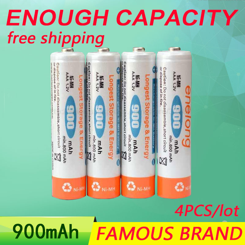 Golooloo NI-MH enelong batteries Low self-discharge 4pcs/lot AAA 900mAh 1.2V rechargeable  battery