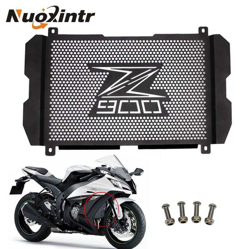 Nuoxintr moto radiateur Grille garde Z900 protecteur noir haute qualité radiateur Grille couverture pour Kawasaki Z900 2017 2018