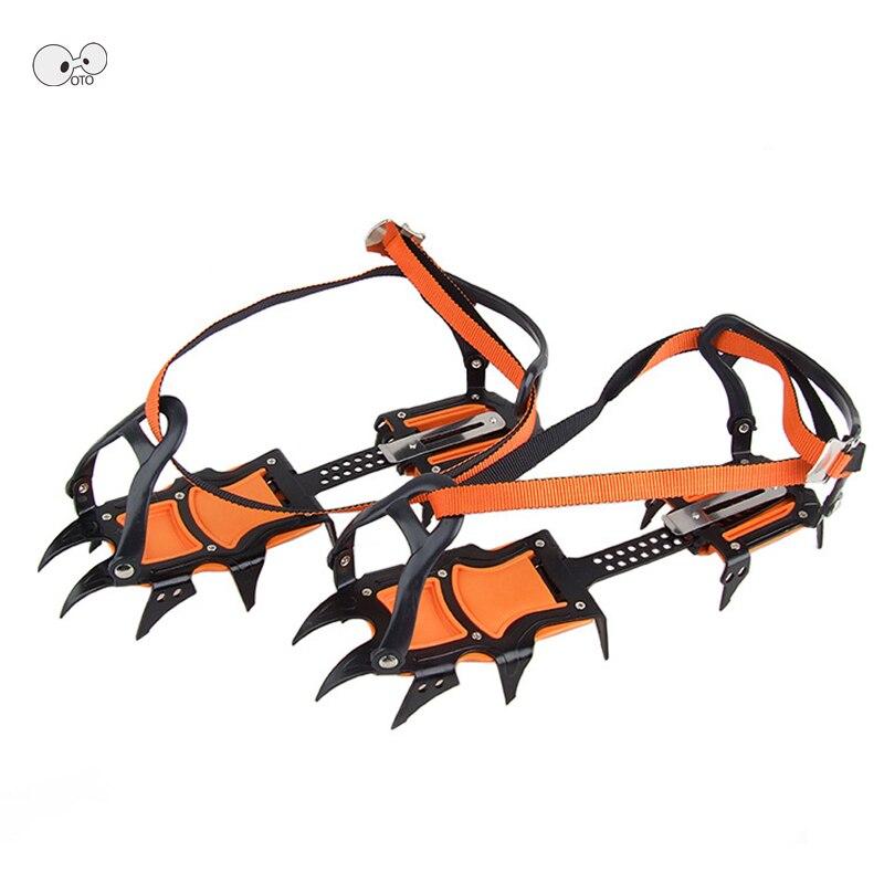 12 dents longues griffes 1 paire professionnel escalade renforcée en acier au manganèse glace Crampons antidérapant randonnée Ski glace neige pinces