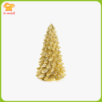 LX MOULD 2019 new fir candle silicone mould Christmas decoration candle mold